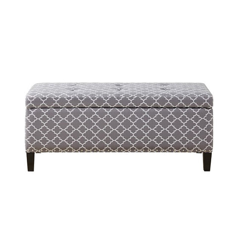 Image of Shandra II Tufted Top Grey Storage Bench (Almost Gone)