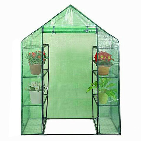 Image of Portable Mini Outdoor Walk-in 4 Shelves Greenhouse