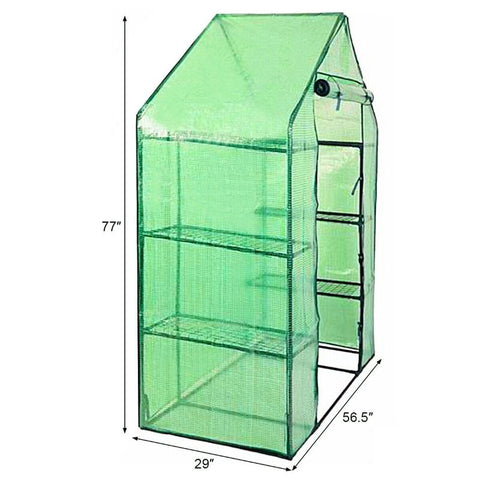 Portable Mini Outdoor Walk-in 4 Shelves Greenhouse