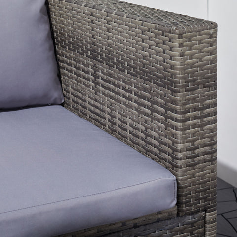 3-Piece Daytona Vintage Wicker Corner Sofa