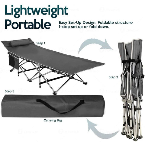 Image of Travel Outdoor Cot for Outdoor Travel  Hiking  Fishing and Hunting
