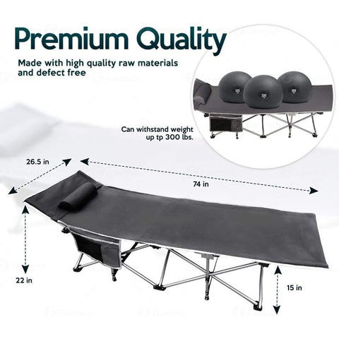 Travel Outdoor Cot for Outdoor Travel  Hiking  Fishing and Hunting