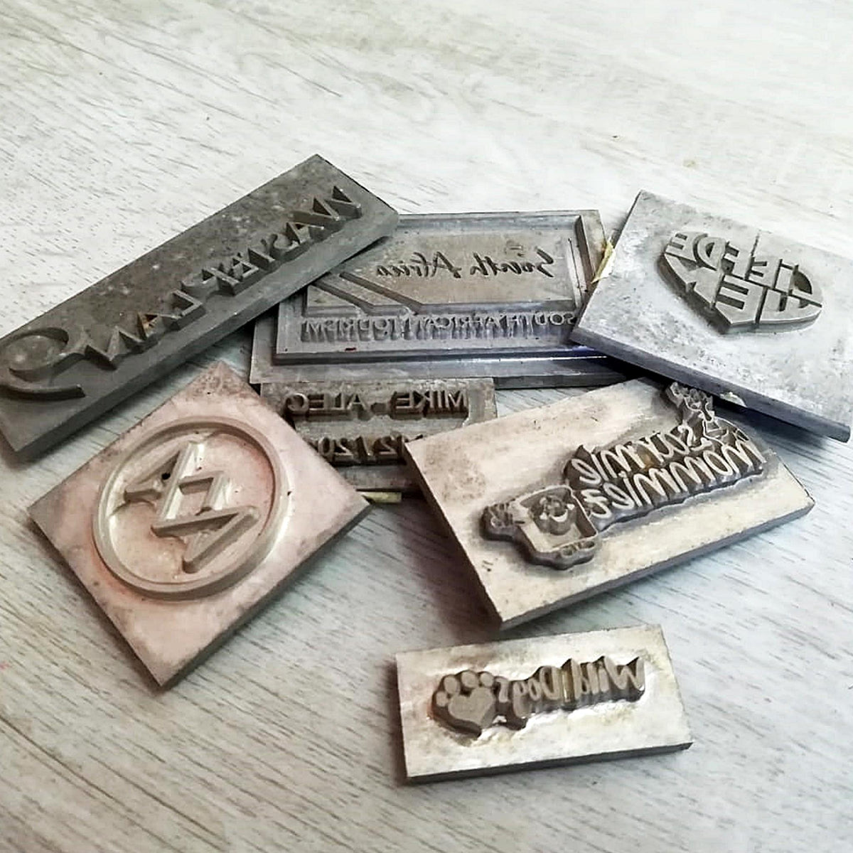 Stamps for various corporate clients