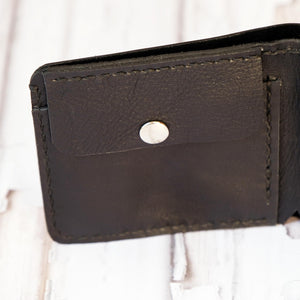 Bi Fold wallet black inside change section