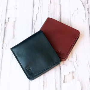 Bi Fold Wallets Black and Russet