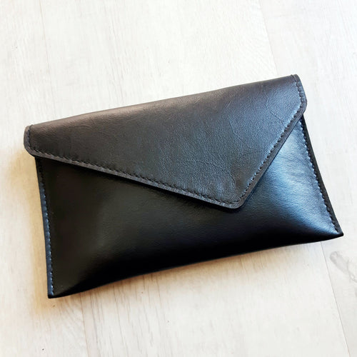 Black Bovine leather Classic Clutch bag