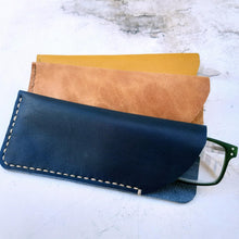 Load image into Gallery viewer, Handcrafted Leather Glasses Sleeves various colours