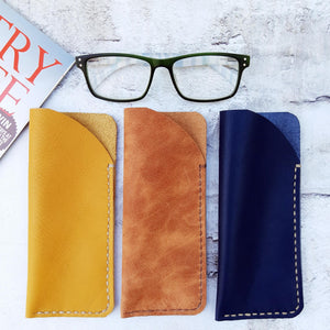 Handcrafted Leather Glasses Sleeves various colours