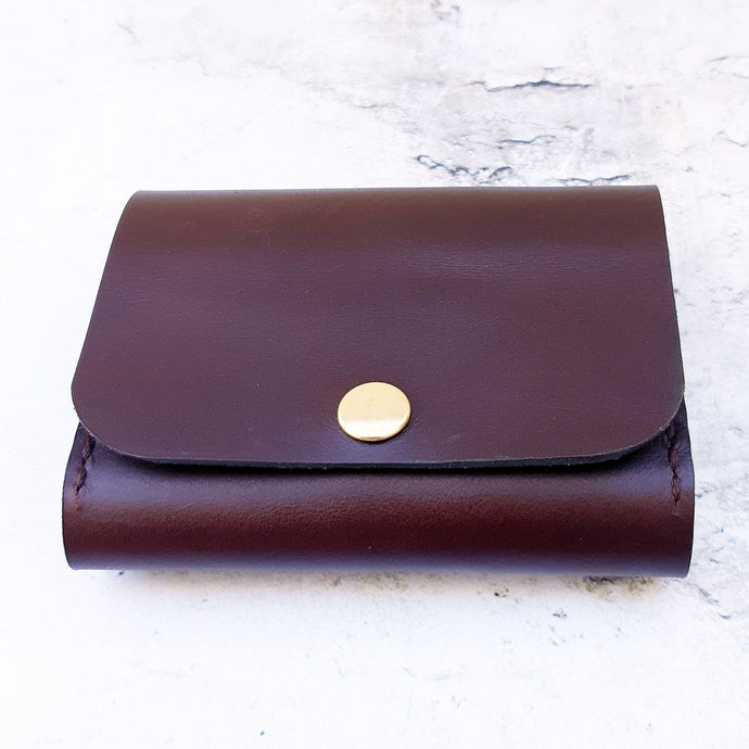Russet leather folder wallet