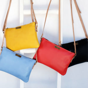Leather casual sling bags various colours