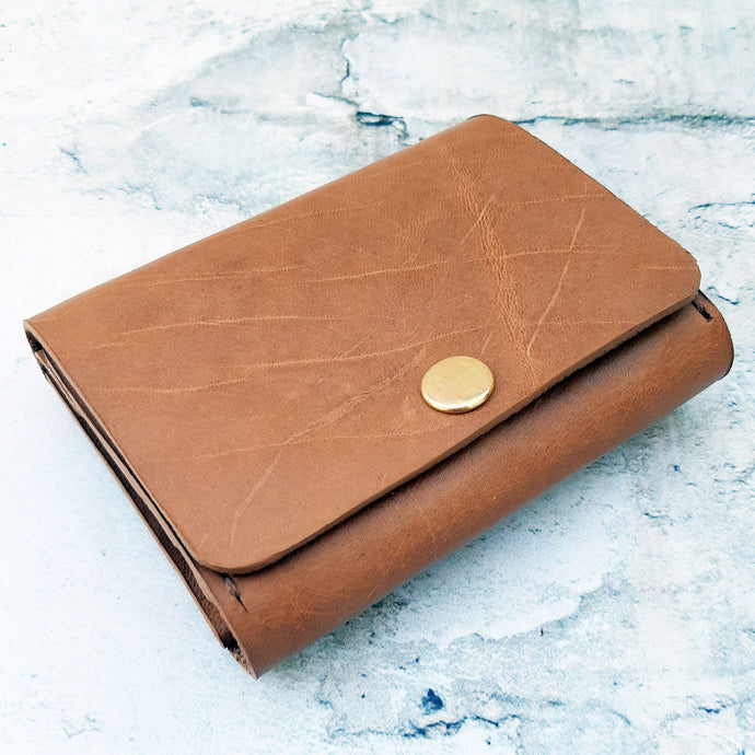 Toffee bovine folder wallet