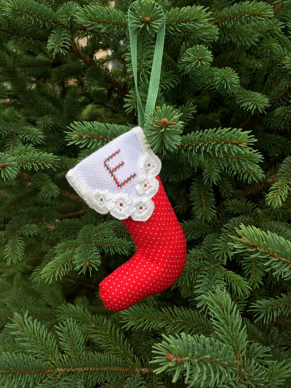 Stocking Christmas Ornament - hardanger embroidery digital pattern