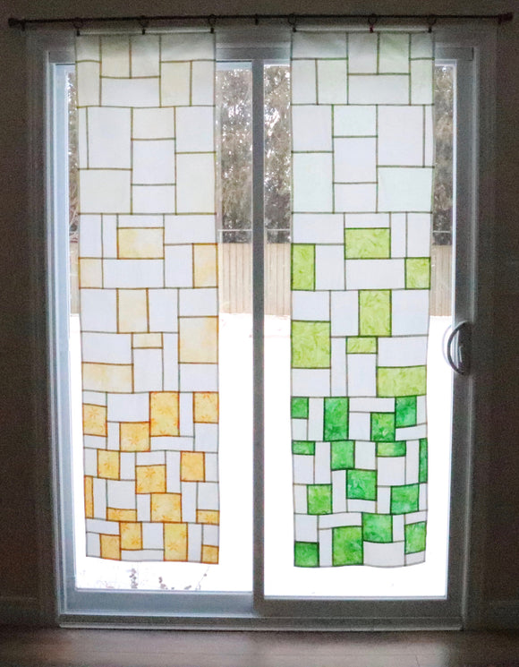 Gradient Panel - stained glass patchwork window hanging digital pattern