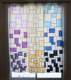 Gradient Panel - stained glass patchwork window hanging pattern