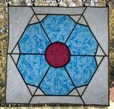 Spring - stained glass patchwork window hanging pattern