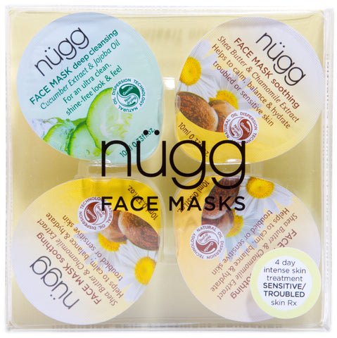 4 Day Comfort Boost: Multi-Masking Set for Sensitive or Troubled Skin