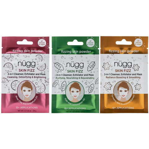 Skin Fizz™ 3-in-1 Cleanser, Exfoliator & Mask – Variety 3-Pack