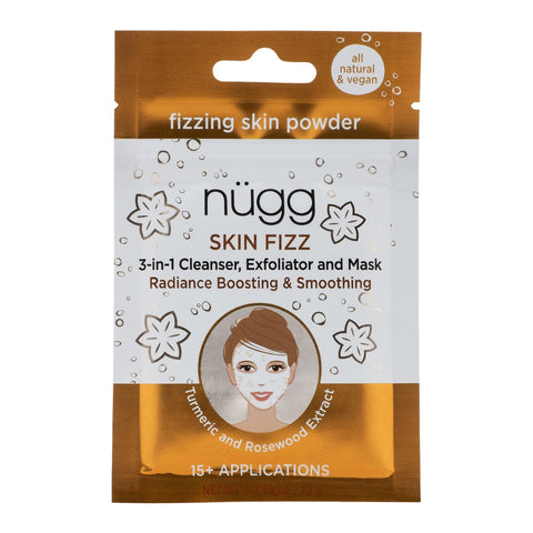 Skin Fizz™ 3-in-1 Foaming Facial with Turmeric and Rosewood Extract
