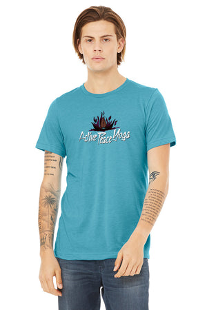 Open image in slideshow, Fire Lotus - Short Sleeve Tri-Blend Tee