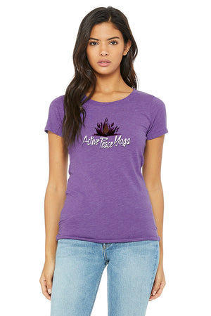 Open image in slideshow, Fire Lotus - Women's Short Sleeve Tri-Blend
