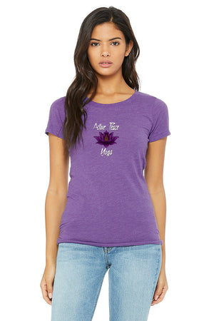 Open image in slideshow, Purple Lotus - Women's Short Sleeve Tri-Blend