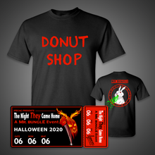 "Load image into Gallery viewer, Virtual Ticket + ""Donut Shop"" T-Shirt"