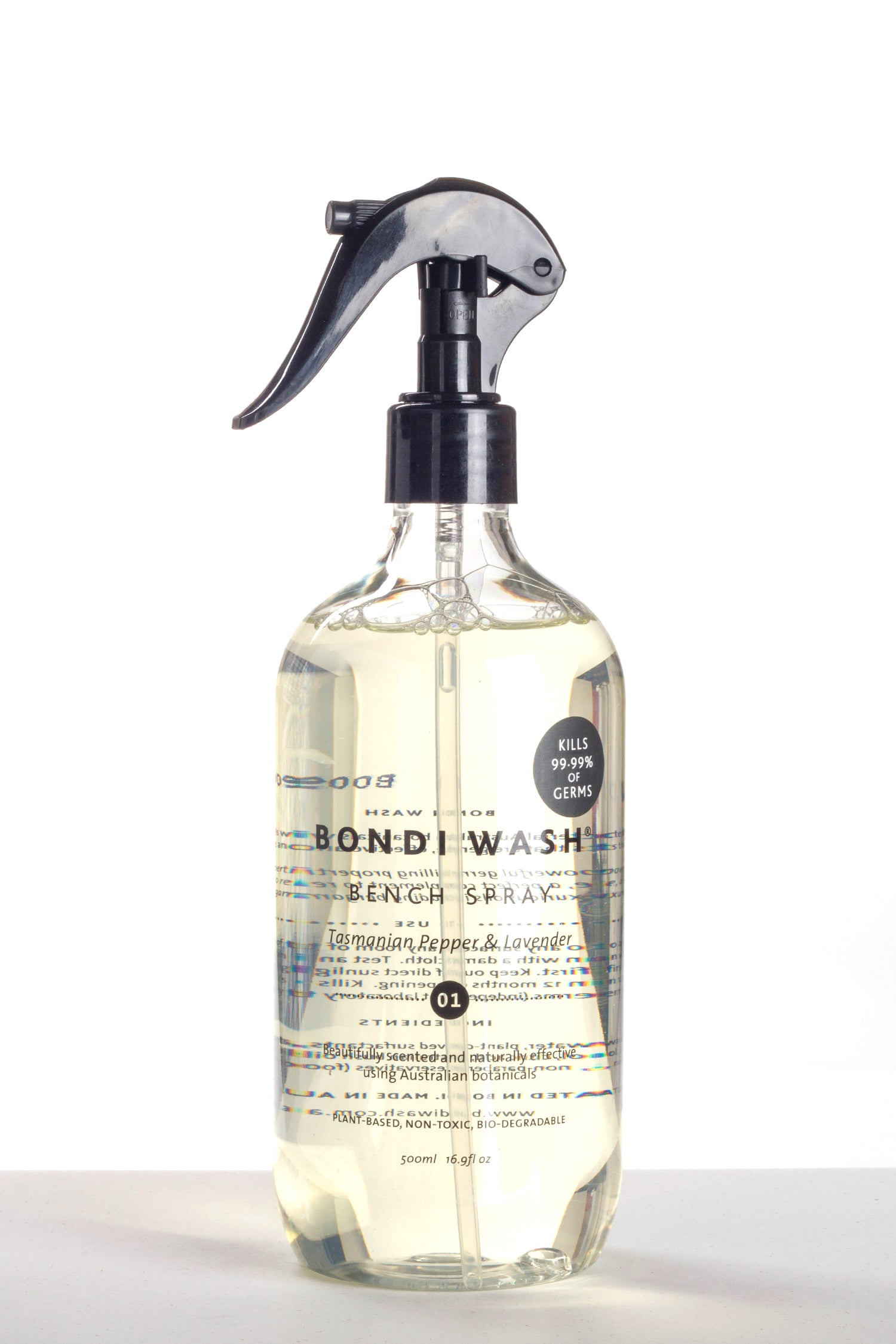 BENCH SPRAY SYDNEY TASMANIAN PEPPER & LAVENDER 500ml