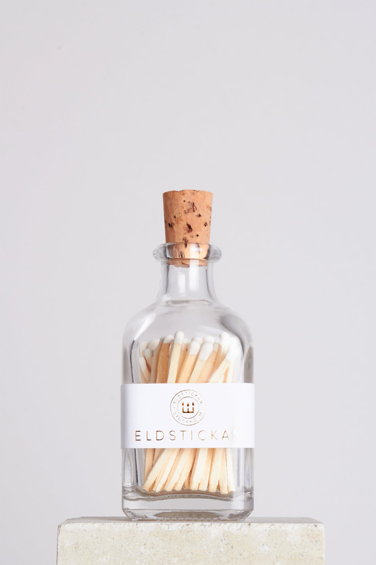 ELDSTICKAN MATCHES JAR - WHITE