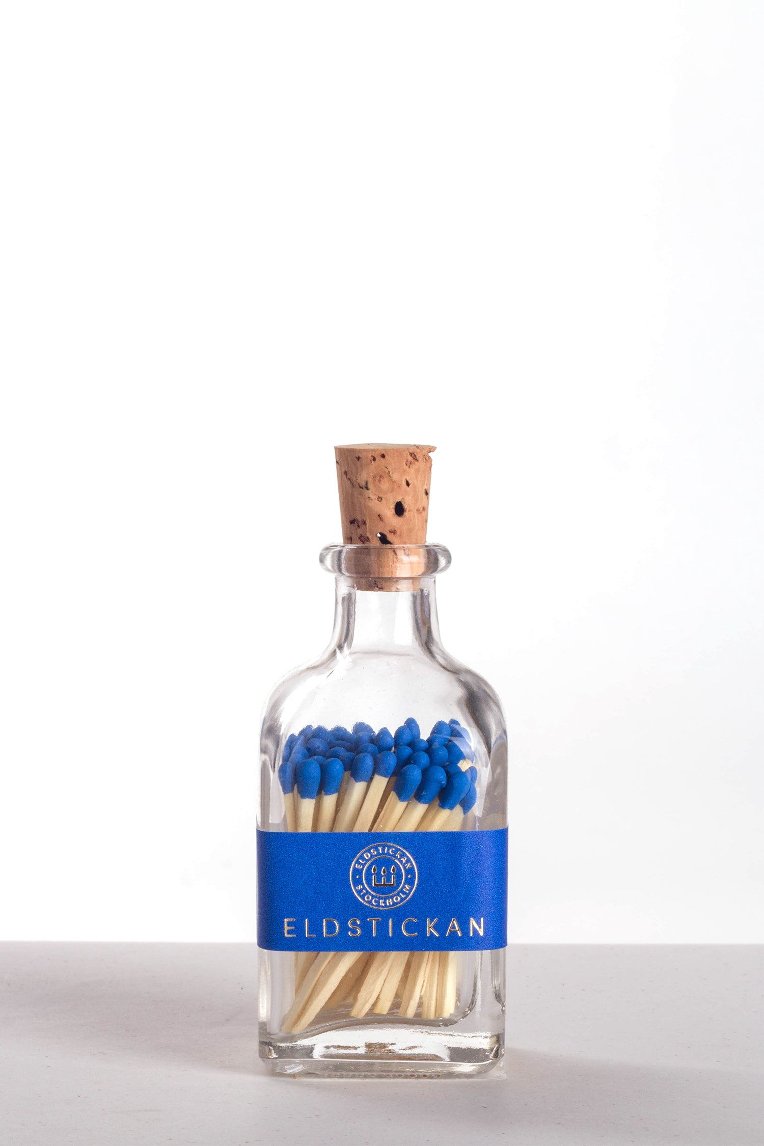 ELDSTICKAN MATCHES JAR - COBALT BLUE