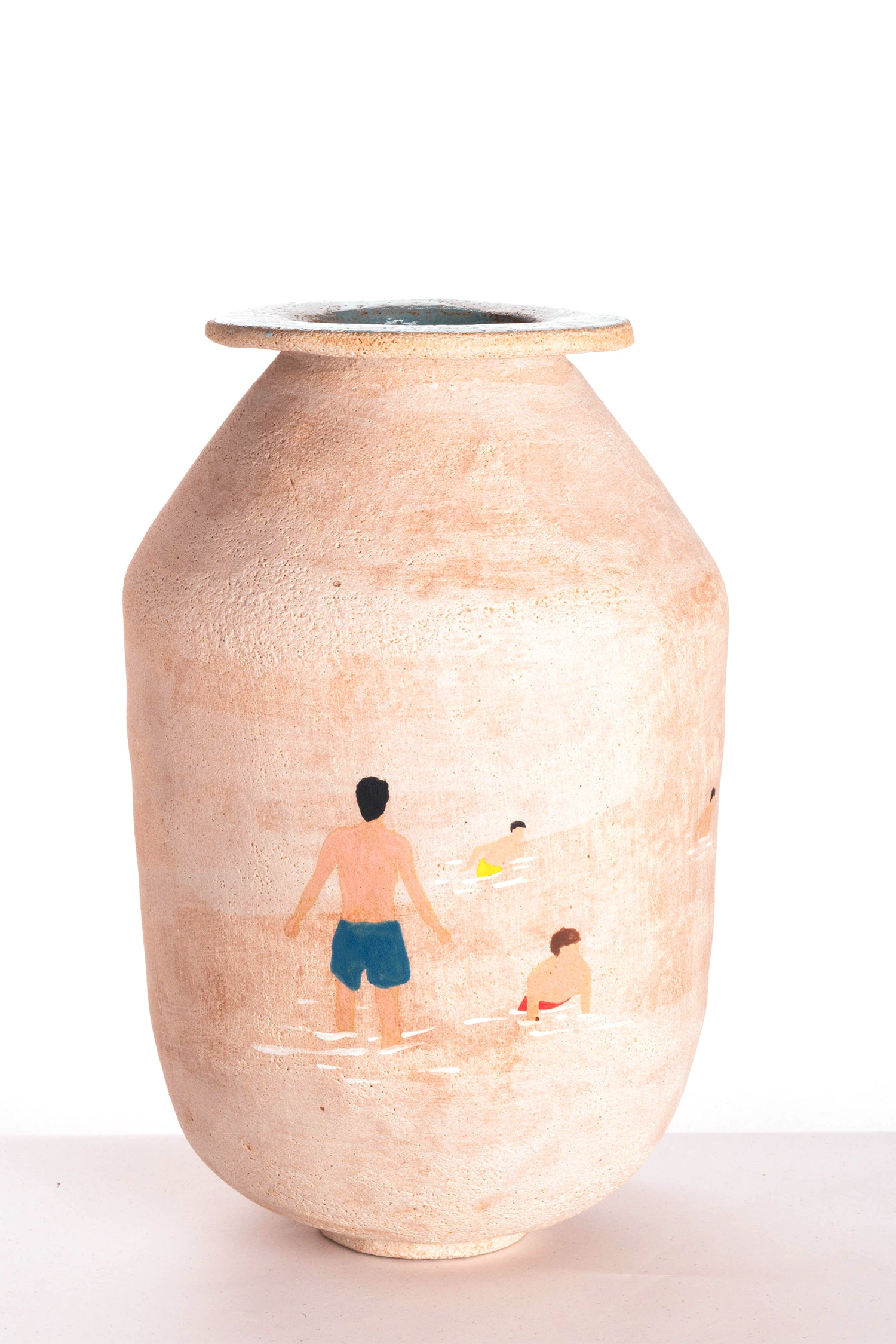 Vase - Natural Clay - Swimming