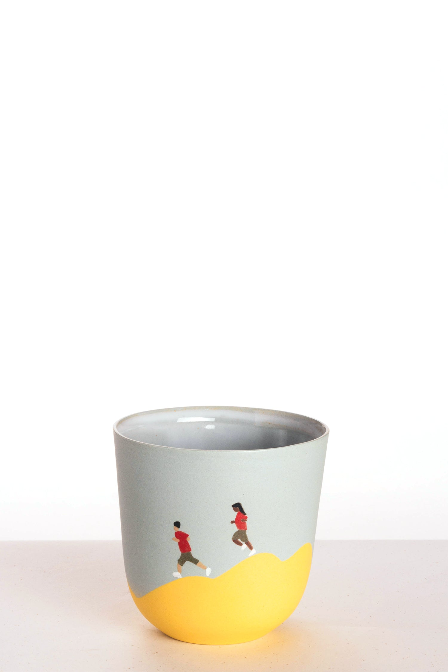 Basic cup - Yellow/Blue - Running Couple