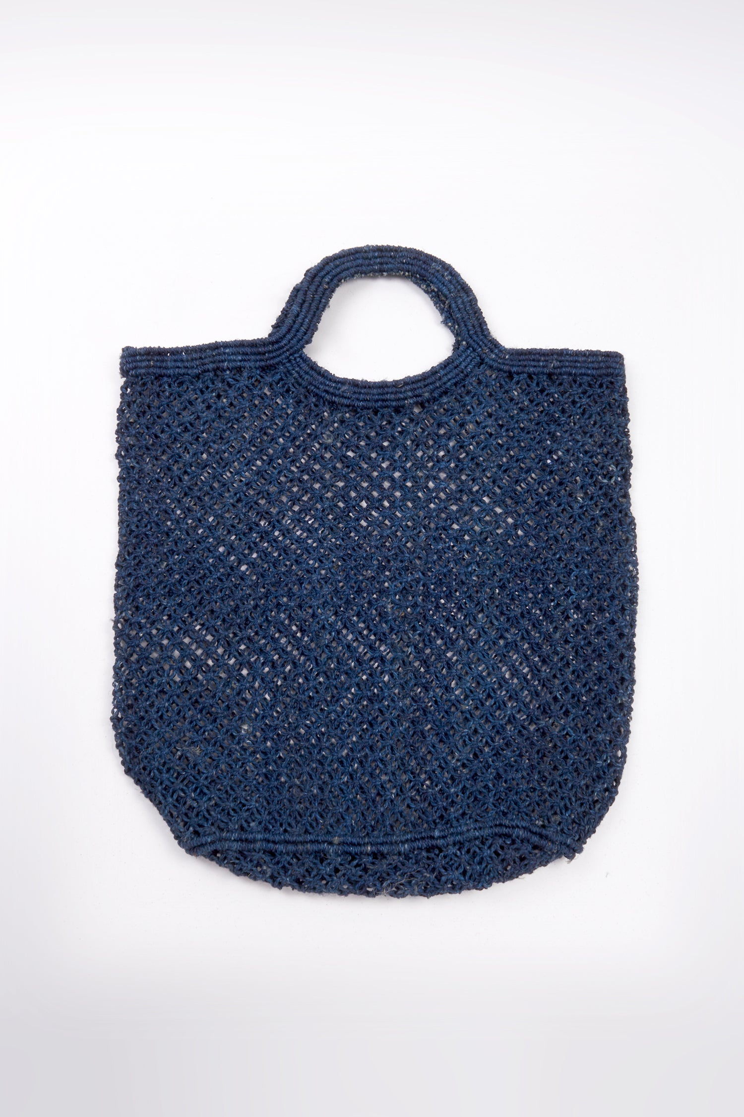 JUTE MACRAME SHOPPING BAG - REAL INDIGO