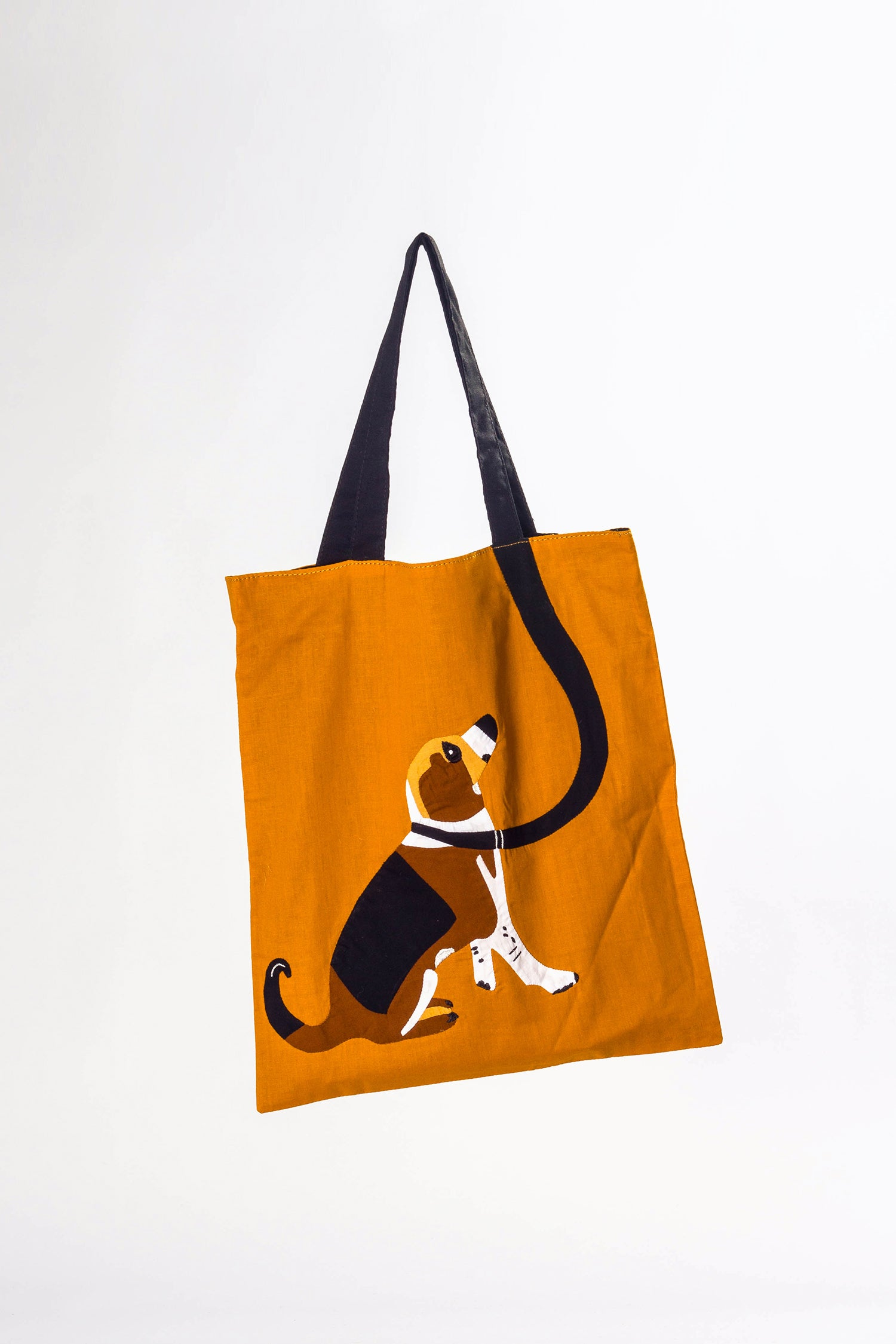 COTTON APPLIQUE BAG- DOG