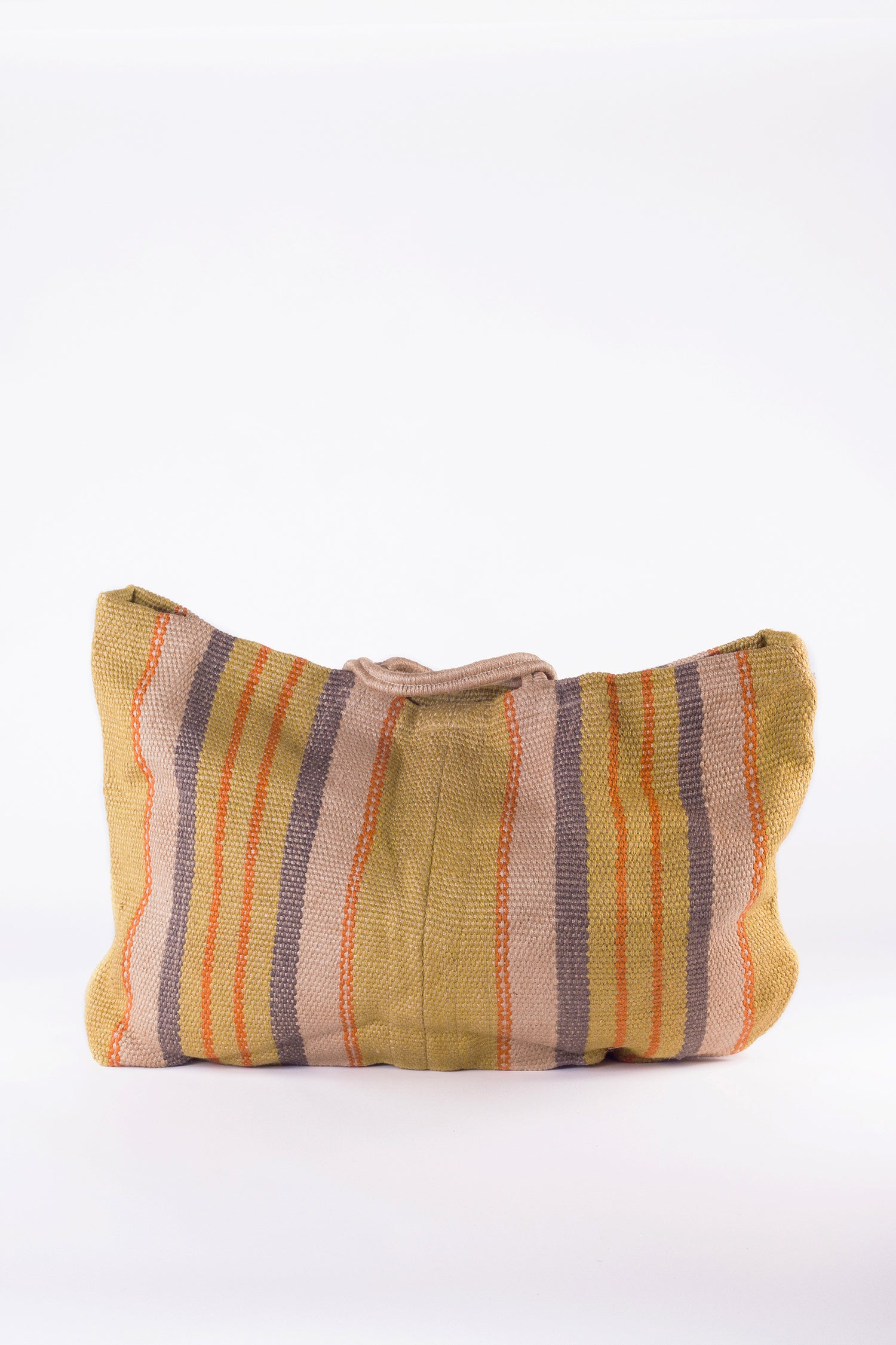 EXTRA LARGE JUTE PORESH HOLD-ALL - YELLOW STRIPE