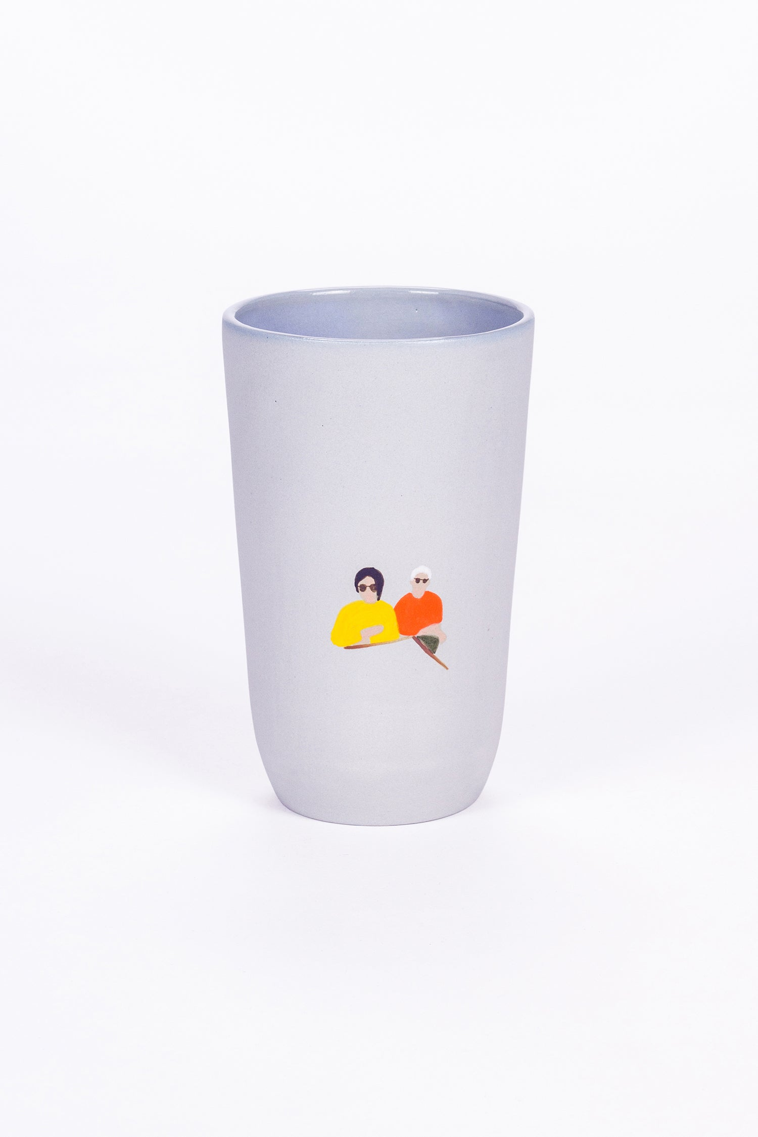 HIGH CUP - BLUE - COUPLE AT TABLE