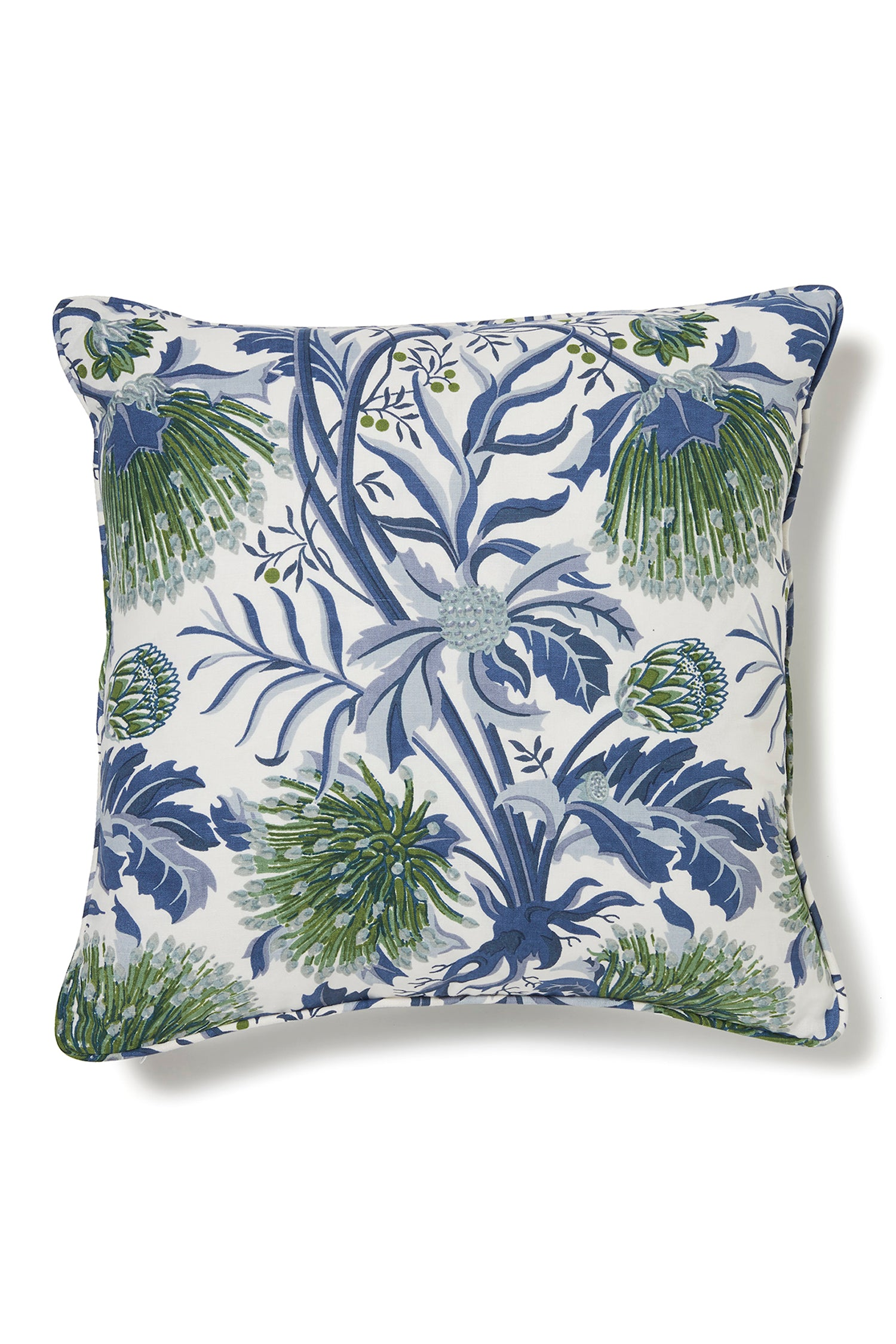 UTOPIA GOODS - 50 X 50CM CUSHION COVER - MATCHSTICK BANKSIA BLUE