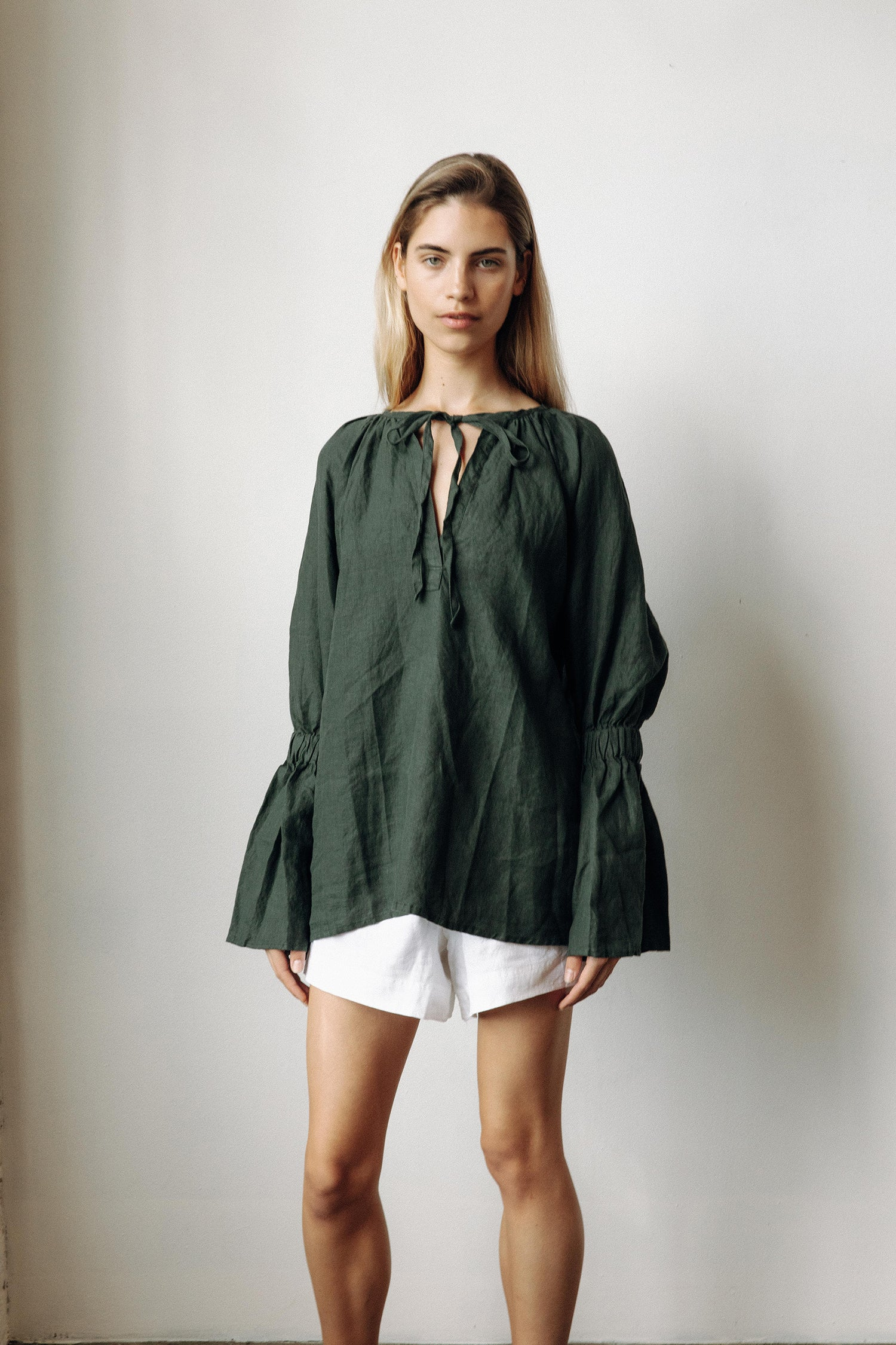 VASARI BLOUSE - FOREST