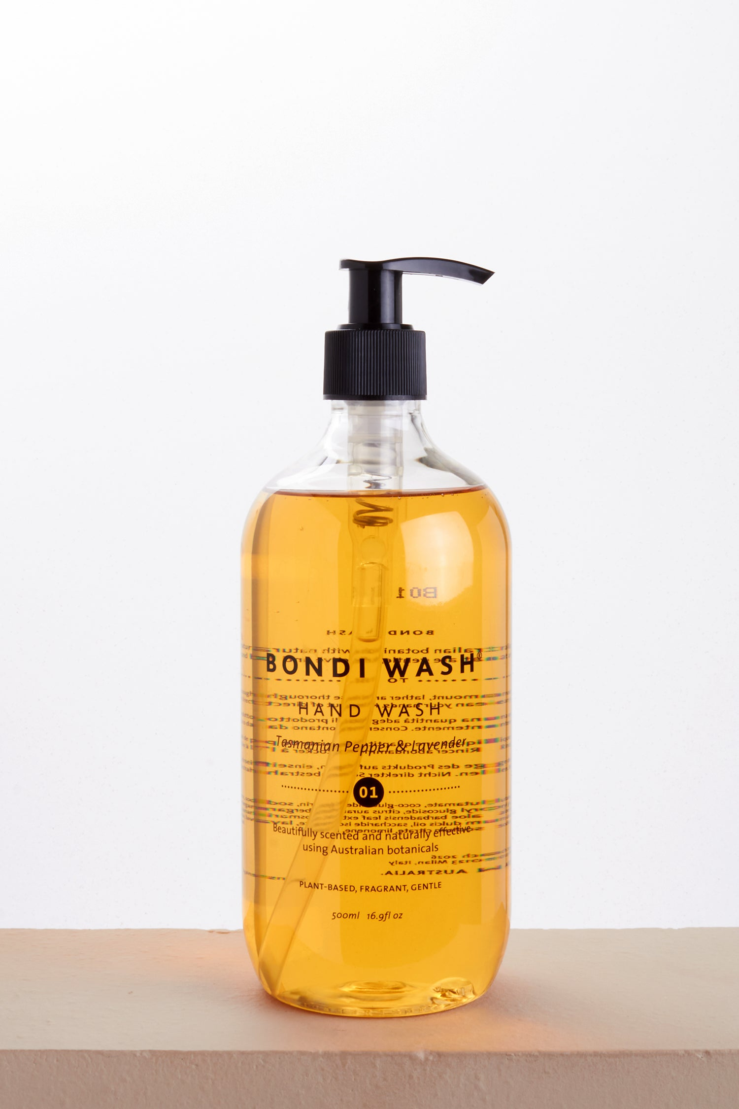 HAND WASH TASMANIAN PEPPER  & LAVENDER 500ml