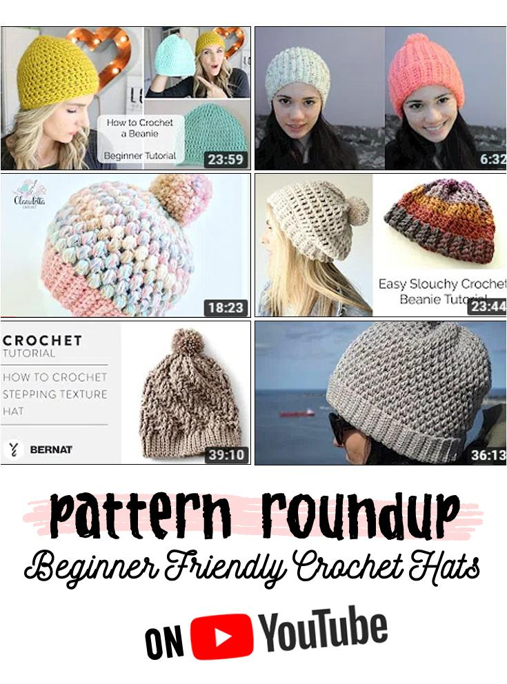 Easy hats for beginners to crochet
