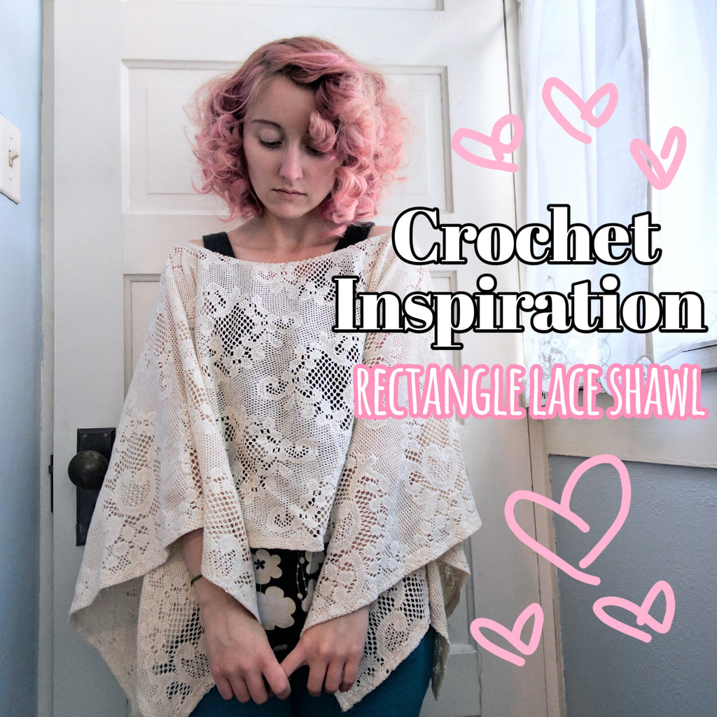 Crochet pattern inspiration: rectangle lace shawl
