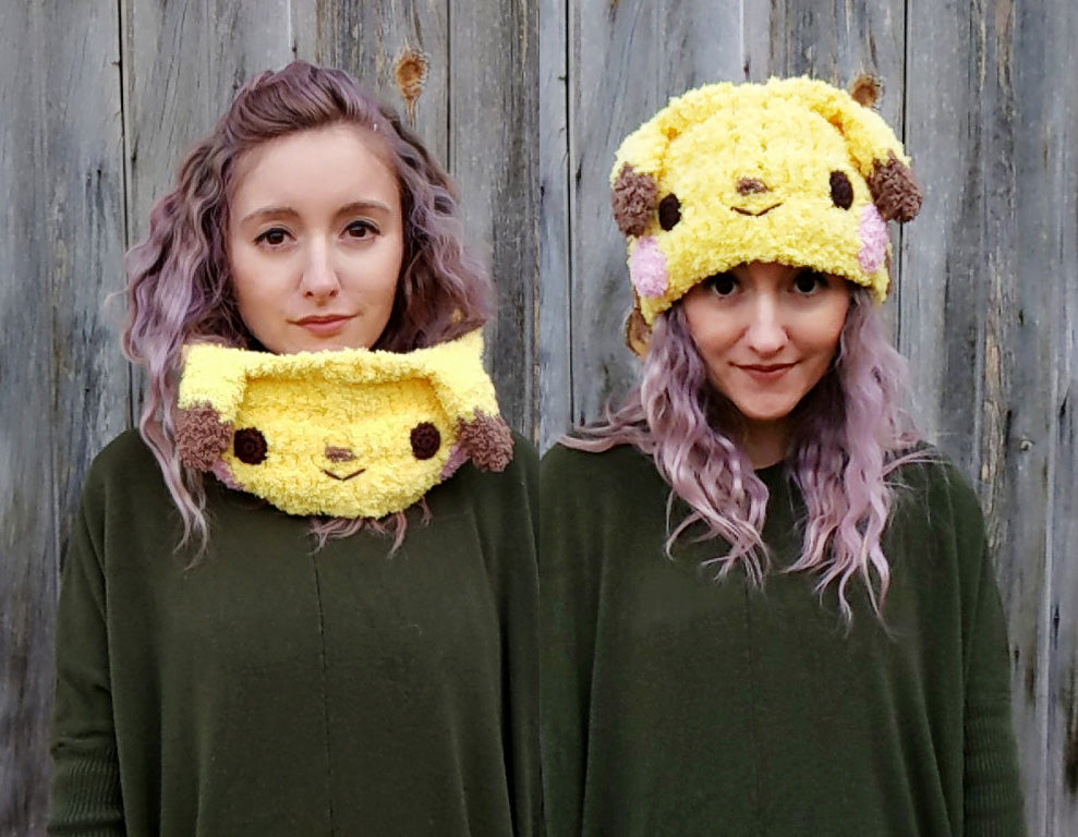 New crochet pattern: Pikachu cowl/headband
