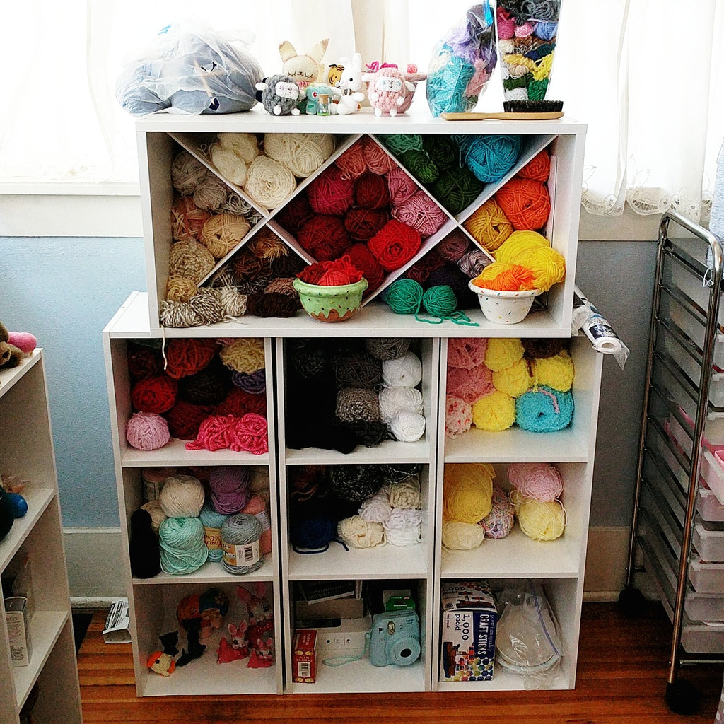 Yarn organization & storage tutorial: new house, new set up