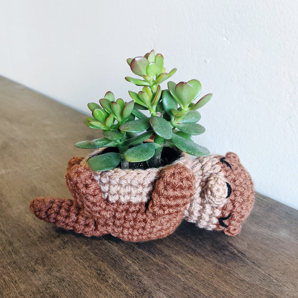 Crochet Pattern: Otter Mini Planter