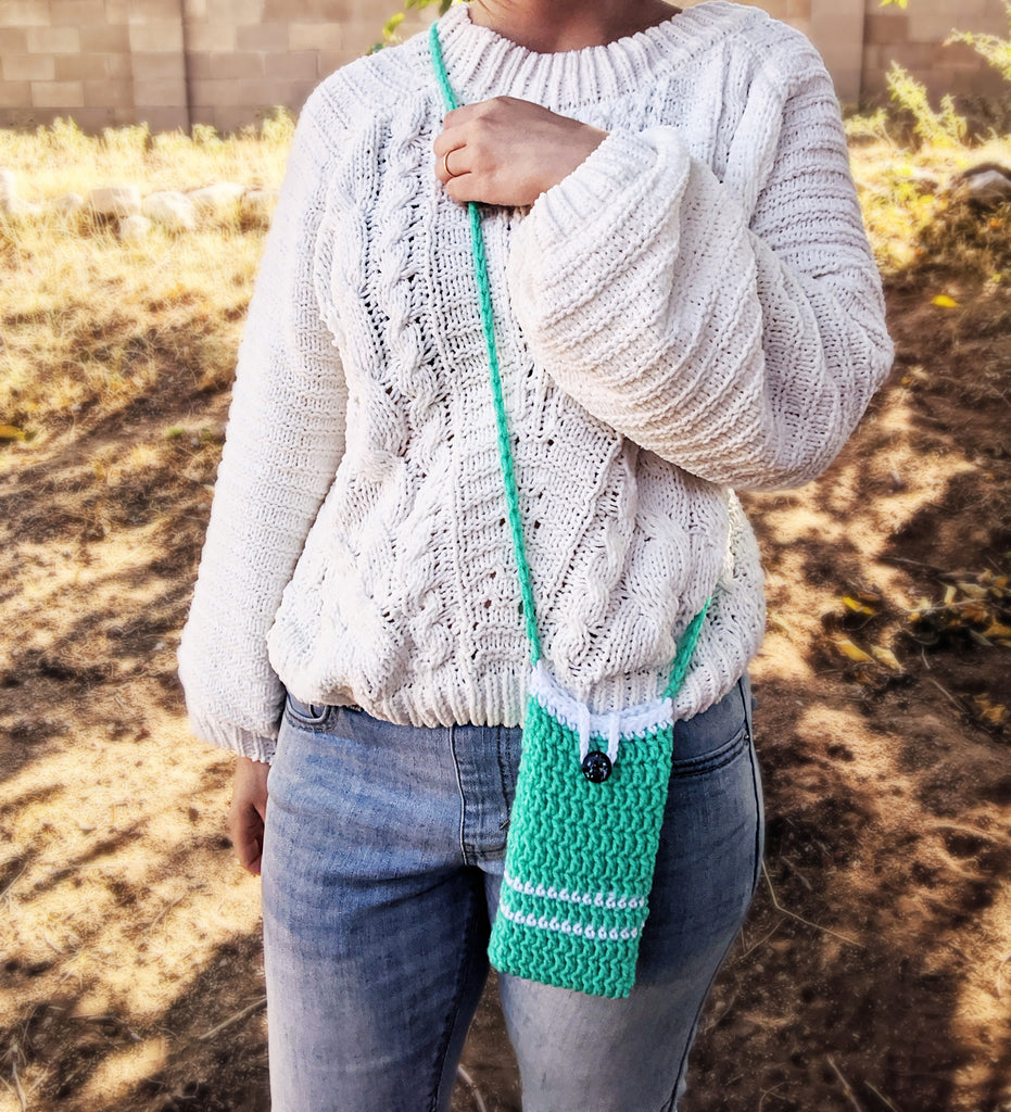 Free Crochet Pattern: Brava Phone Pouch, Sloth Phone Pouch, and Phone Pouch Display Tags