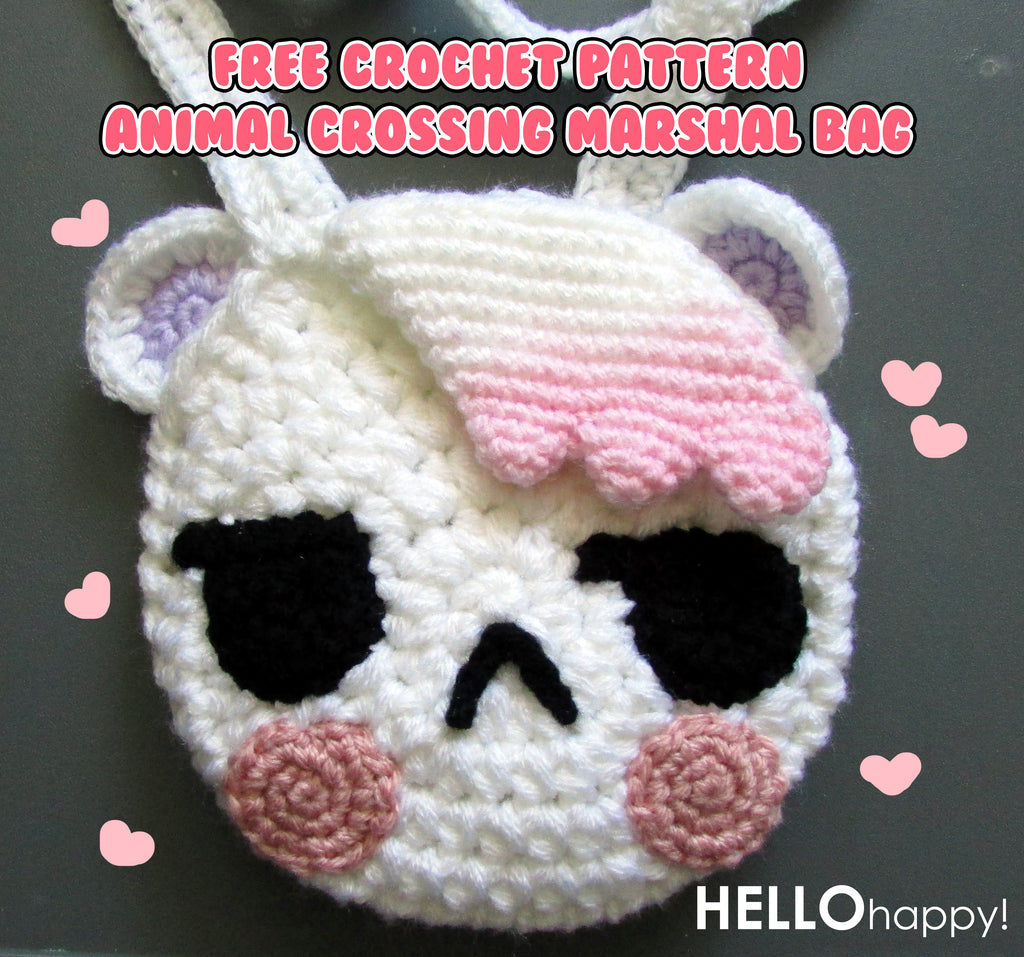 Free crochet pattern: Animal Crossing Marshal bag