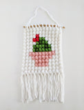 Potted Cactus Wall Hanging