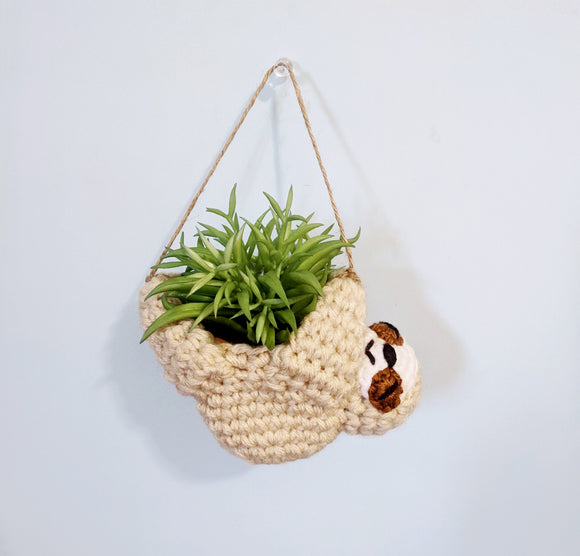 Hanging Sloth Mini Planter
