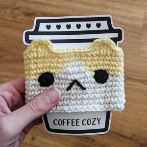 Yellow Cat Coffee Cozy