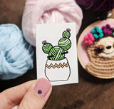 Yarn Ball Cactus Crochet Vinyl Sticker