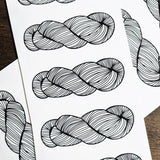 Pretty Yarn Skein Vinyl Sticker